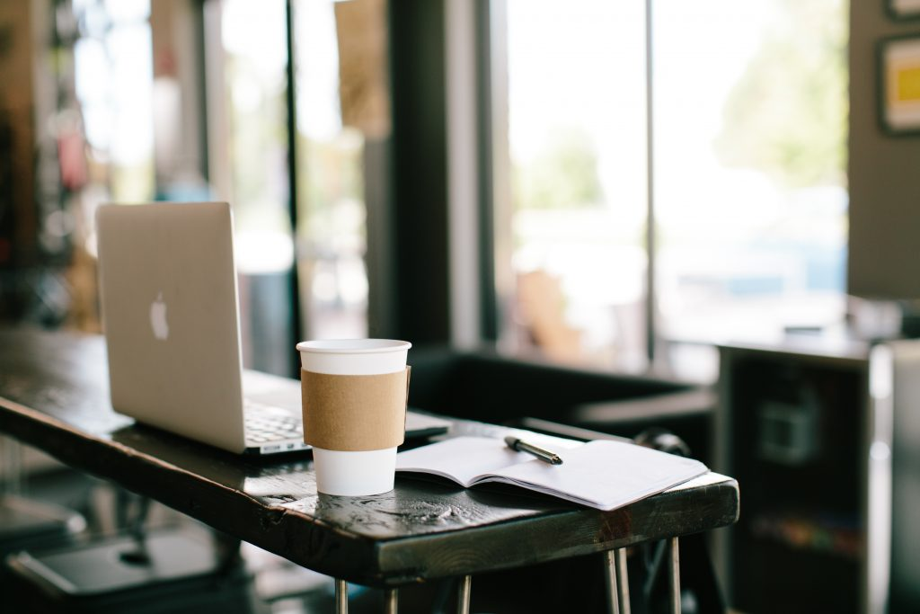 Picture of coffee and laptop
